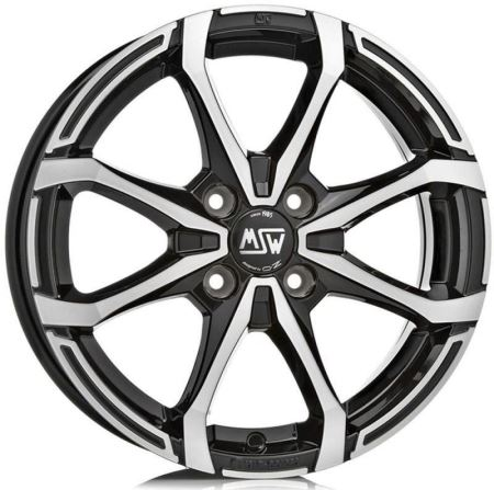Janta aliaj MSW X4 Matt Black Full Polished 5x15 4x100 ET38 60,06
